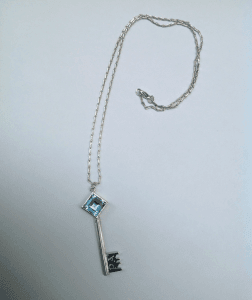 Sterling silver, blue topaz