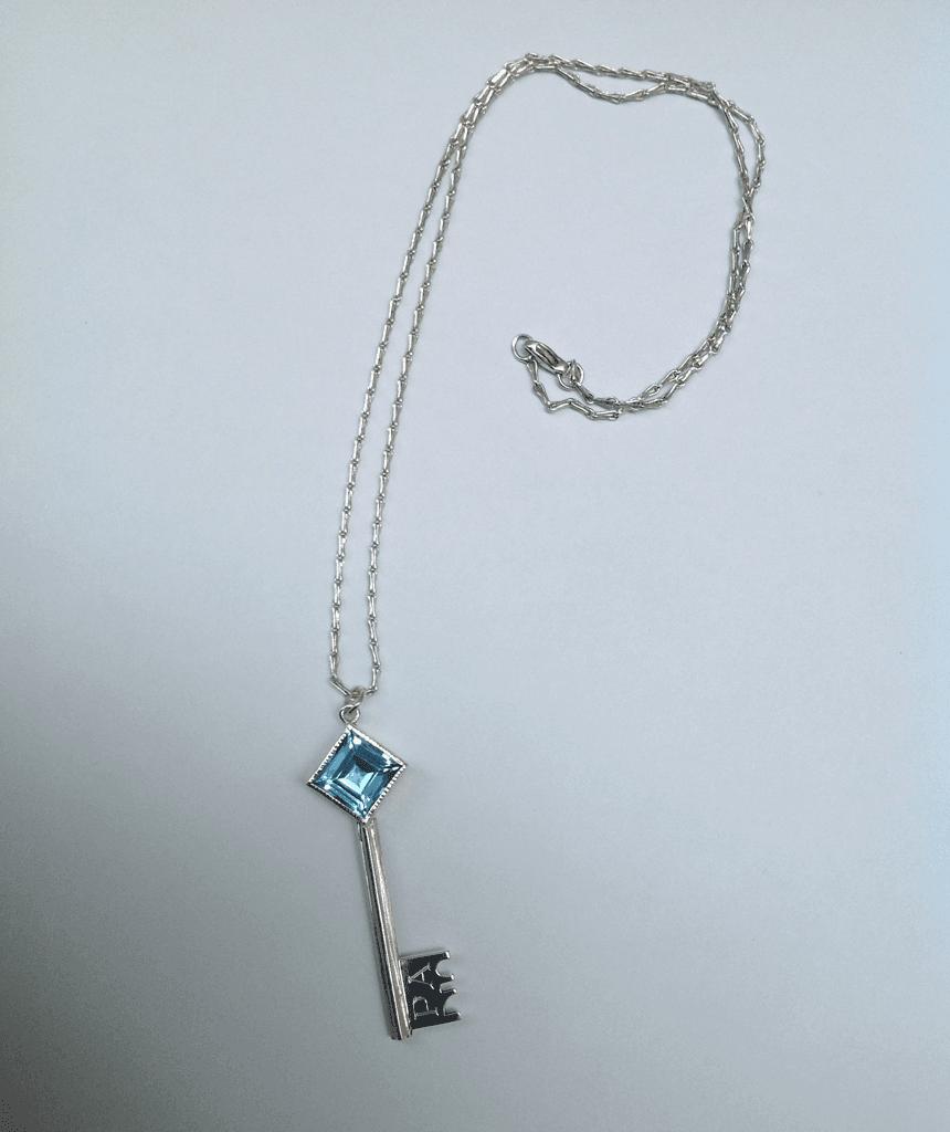 Sterling silver, blue topaz