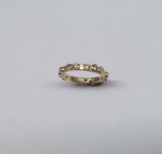 Diamond and 18 carat yellow gold eternity ring