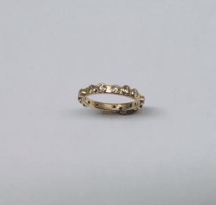 Diamond and 18 carat yellow gold eternity ring