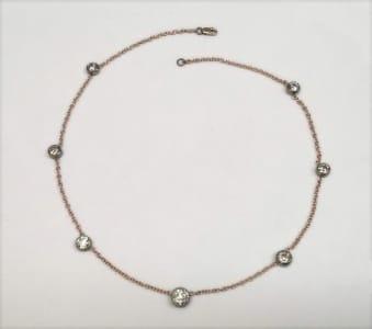 Diamond rose gold necklace